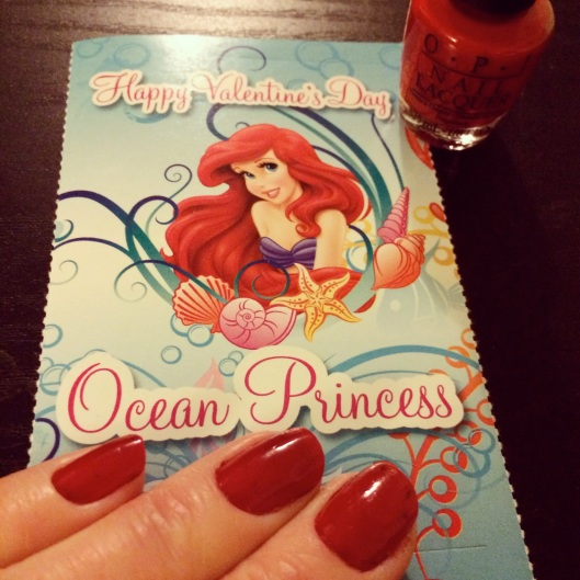 I sent some Little Mermaid and Frozen Valentines to my friends.